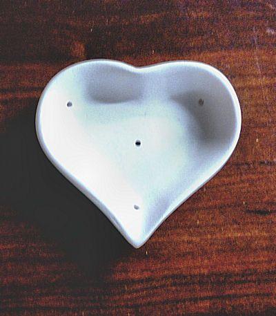 """Small Heart Dish 3.75"""" X 3.25"""""""