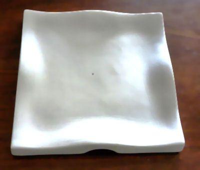 "Square Ruffle Sushi Plate 7"""