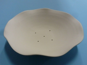 """Small Fluted Bowl 7.25"""" X 1.5"""" Round"""