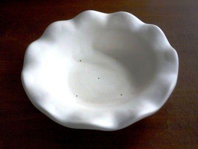 """11.5"""" Round Ruffled Rim Bowl"""